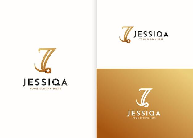 Szablon projektu luksusowego logo litery j