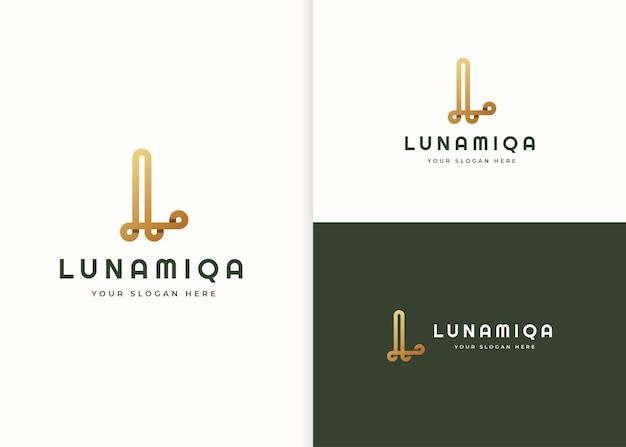 Szablon projektu luksusowego logo litery l
