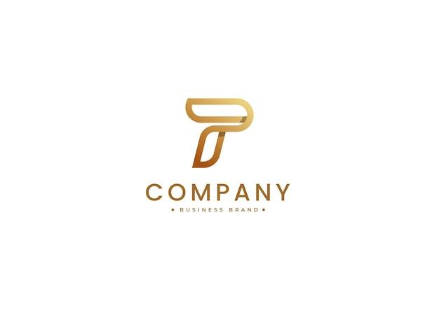 Szablon projektu luksusowego logo litery p