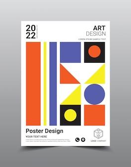 Szablon projektu magazynu kreatywnych plakat.