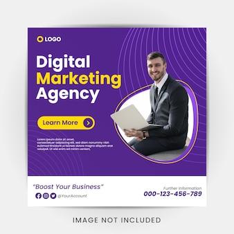 Szablon projektu marketingu cyfrowego na instagramie