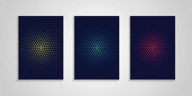 Szablon projektu minimalna okładka zestaw z abstrakcyjnymi okręgami
