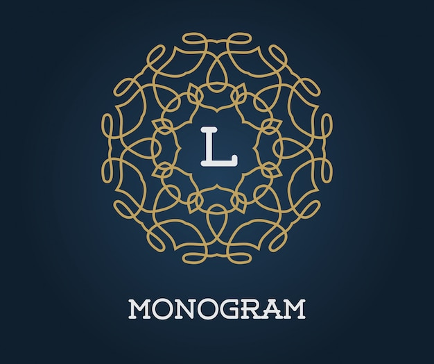 Szablon projektu monogramem