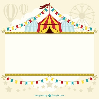 Szablon projektu namiot cyrkowy
