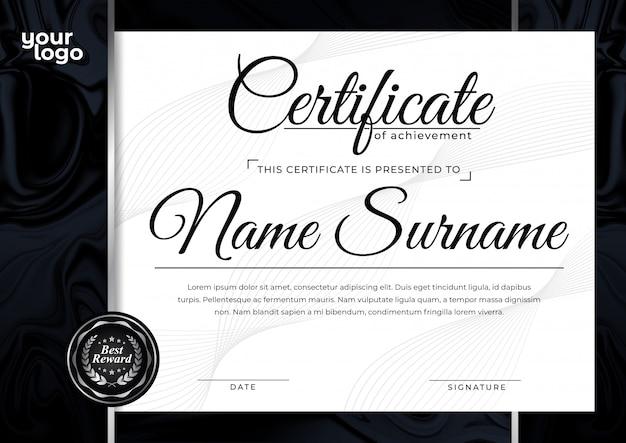 Szablon projektu nowoczesnego certyfikatu za nagrodę za osiągnięcie
