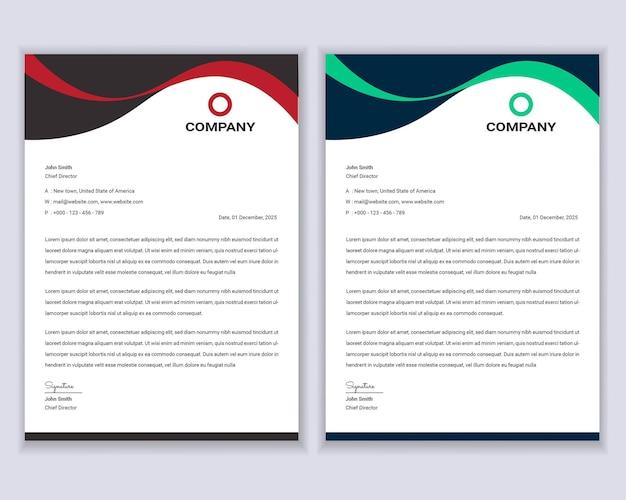 Szablon projektu nowoczesnego papieru firmowego