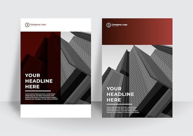 Szablon projektu nowoczesnej okładki. korporacyjny raport roczny lub szablon projektu książki