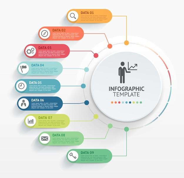 Szablon projektu nowoczesny infografiki
