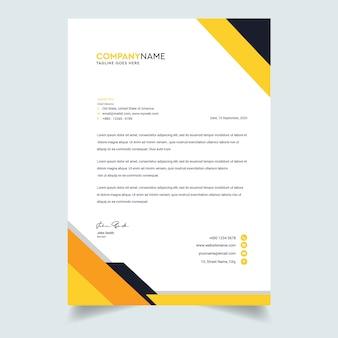 Szablon projektu nowoczesny papier firmowy