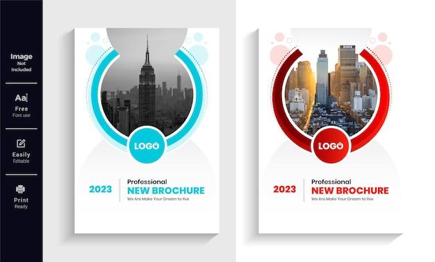 Szablon projektu okładki broszury biznesowej
