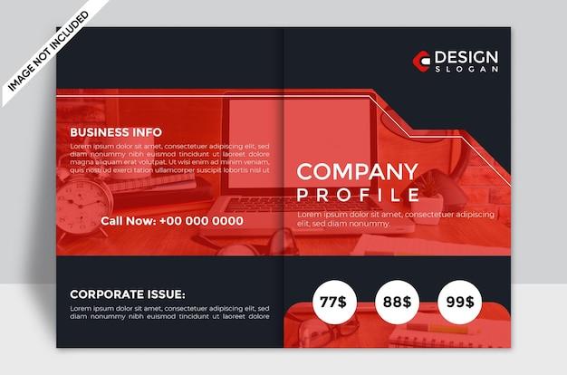 Szablon projektu okładki broszury profil firmy