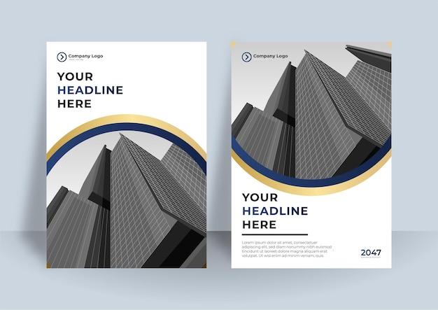 Szablon projektu okładki korporacyjnej. nowoczesny plakat geometryczny.