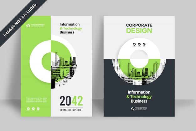 Szablon projektu okładki książki biznes tło miasta