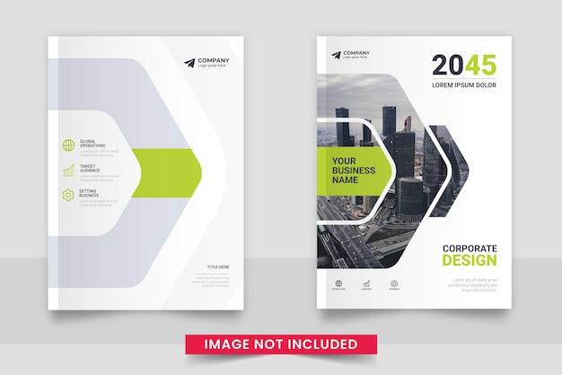 Szablon projektu okładki książki biznesowej w tle miasta