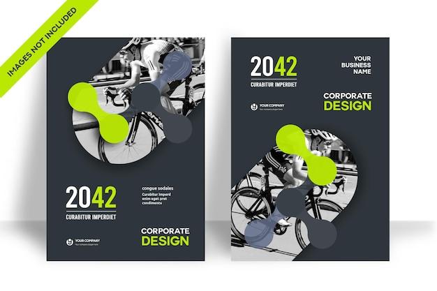 Szablon projektu okładki książki firmowej w formacie a4. można dostosować do broszury, raportu rocznego, czasopisma, plakatu, prezentacji biznesowej, portfolio, ulotki, banera, strony internetowej.