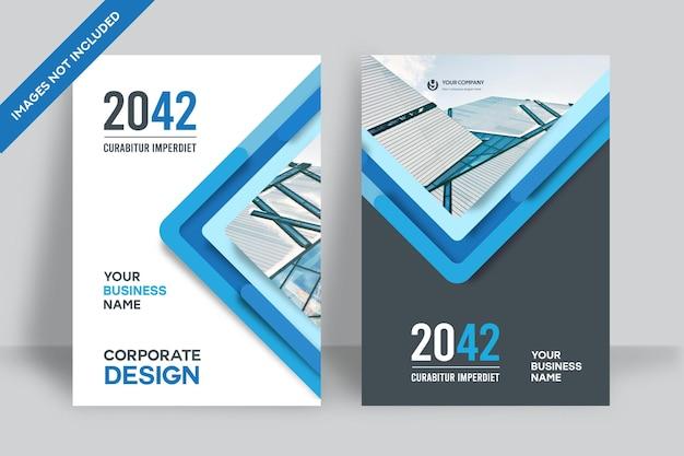 Szablon projektu okładki książki korporacyjnej w formacie a4.