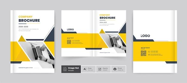 Szablon projektu okładki nowoczesnej broszury biznesowej profil firmy raport roczny okładka kolorowy motyw