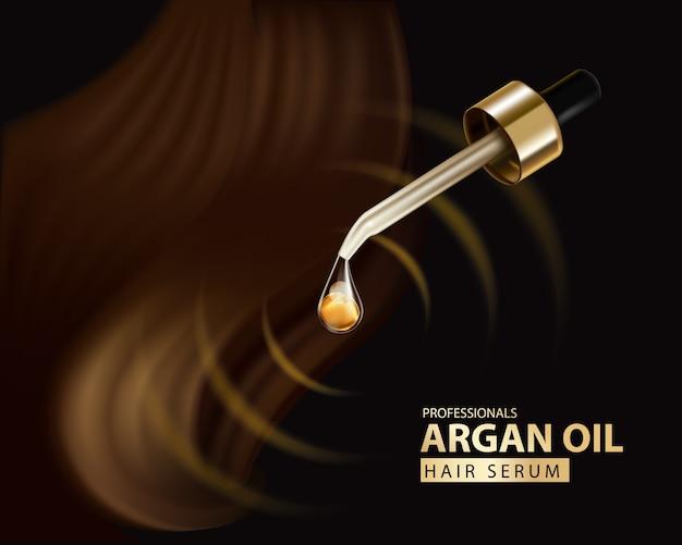 Szablon projektu opakowania szamponu do pielęgnacji włosów z olejkiem arganowym