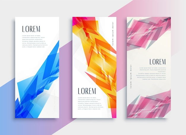 Szablon projektu pionowego banera www streszczenie styl