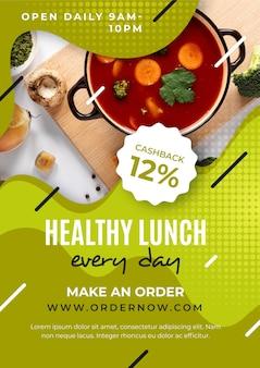 Szablon projektu plakat zdrowej żywności