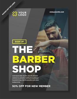Szablon projektu plakatu dla zakładów fryzjerskich