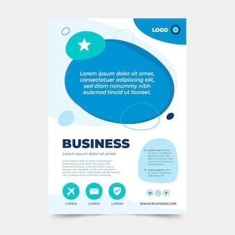 Szablon projektu plakatu firmy biznesowej