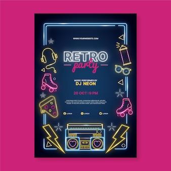 Szablon projektu plakatu neonowego