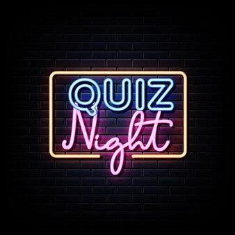 Szablon projektu plakatu ogłoszenia nocnego quizu