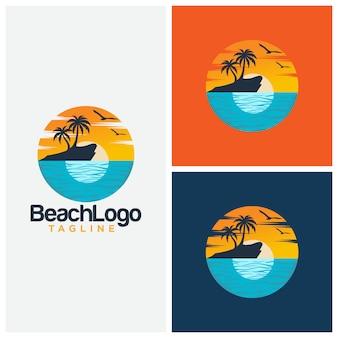 Szablon projektu plaży wektor szablon