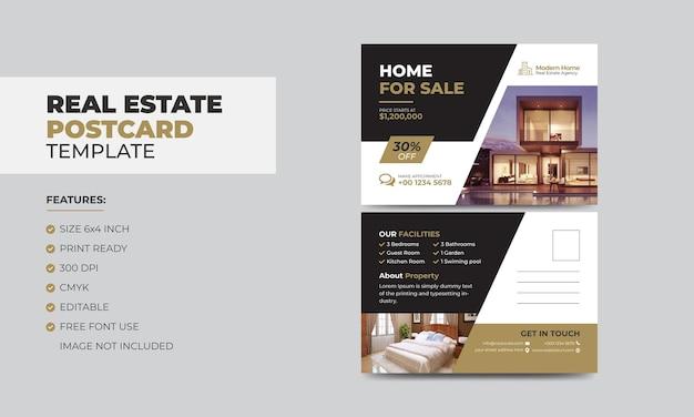 Szablon projektu pocztówki biznesowej dla nowoczesnego agenta nieruchomości