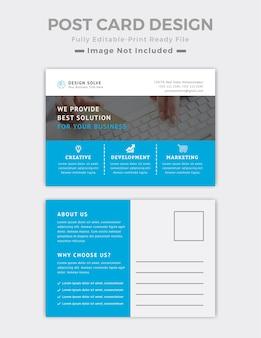 Szablon projektu pocztówki biznesowej
