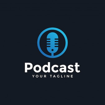 Szablon projektu prosty nowoczesny podcast logo