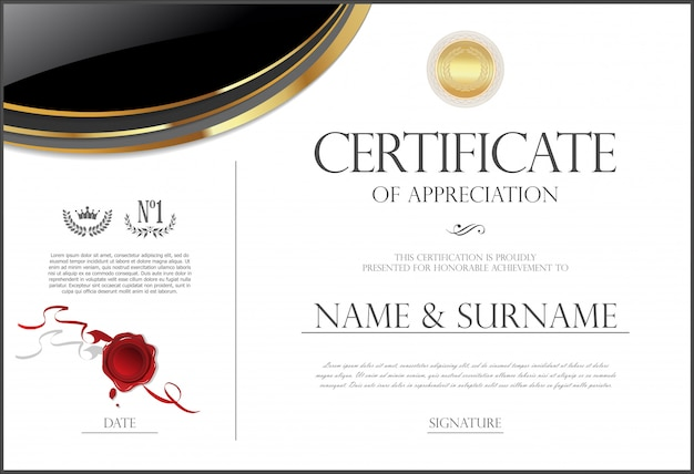 Szablon projektu retro certyfikatu