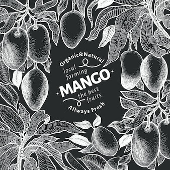 Szablon projektu rocznika drzewa mango.