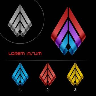 Szablon projektu streszczenie logo wstążki