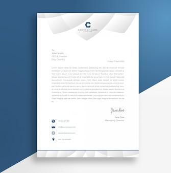 Szablon projektu streszczenie papier firmowy