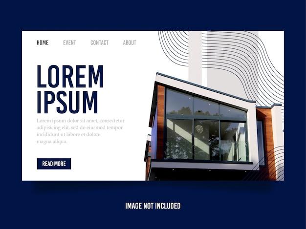 Szablon projektu strony docelowej nowoczesny budynek