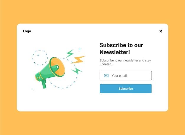 Szablon Projektu Strony Internetowej E-mail Marketingu Do Subskrypcji Biuletynu Premium Wektorów