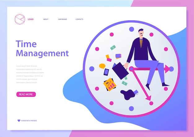 Szablon projektu strony internetowej wektor do zarządzania projektami planowania komunikacji biznesowej