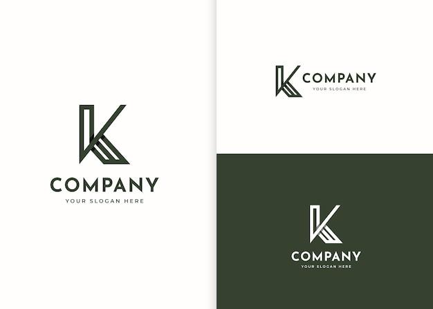 Szablon projektu stylu linii logo litery k