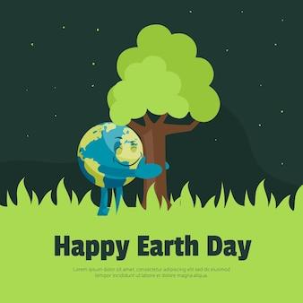 Szablon projektu szczęśliwy dzień ziemi