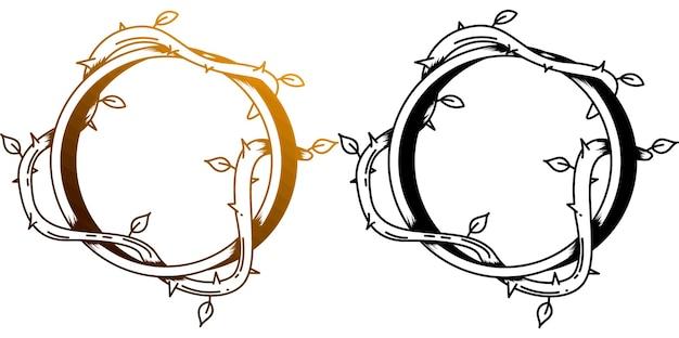 Szablon projektu tatuażu monoline pierścień macierzysty