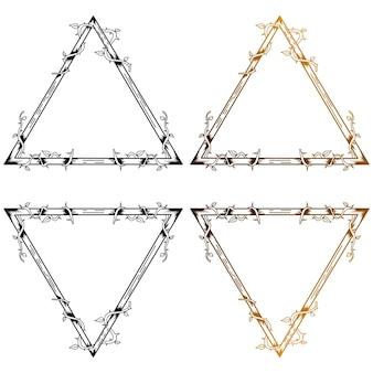 Szablon projektu tatuażu monoline trójkąt macierzysty