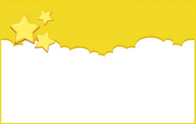 Szablon projektu tła z żółtymi gwiazdami