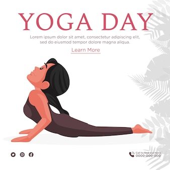 Szablon projektu transparent dzień jogi