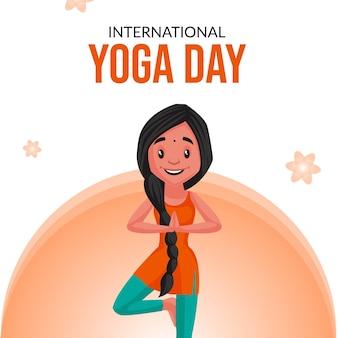 Szablon projektu transparent światowego dnia jogi