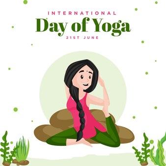 Szablon projektu transparentu międzynarodowego dnia jogi
