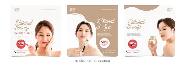 Szablon projektu transparentu pięknej kobiety