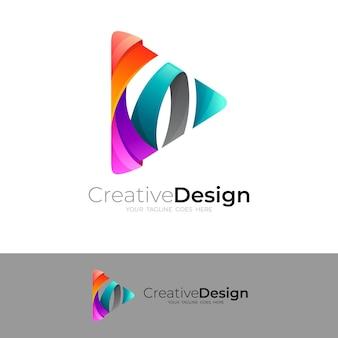 Szablon projektu trójkąta, kolorowy styl, zabawne logo