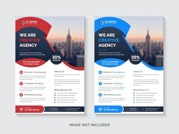Szablon projektu ulotki a4 kreatywnej agencji marketingu cyfrowego